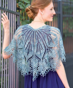 my favorite shawl from the book, Blue Dahlia