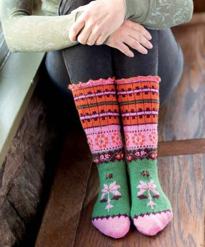 First Frost - Toka Socks beauty shot