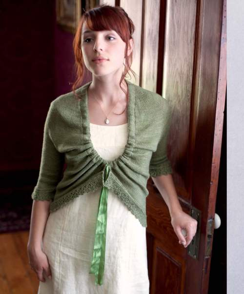 The Best of Jane Austen Knits - Barton Cottage Shrug beauty shot