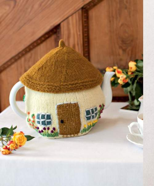 The Best of Jane Austen Knits - Cottage Tea Cozy beauty shot