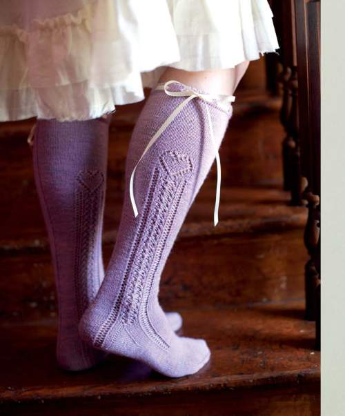 The Best of Jane Austen Knits - Marianne Dashwood Stockings beauty shot