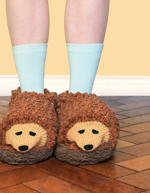 Faux Taxidermy Knits - Hedgehog Slippers beauty image