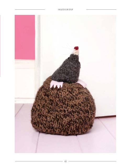 Faux Taxidermy Knits - Mole Door Stop beauty image