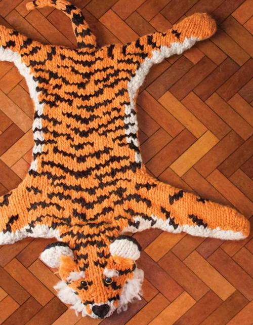 Faux Taxidermy Knits - Tiger Rug beauty image