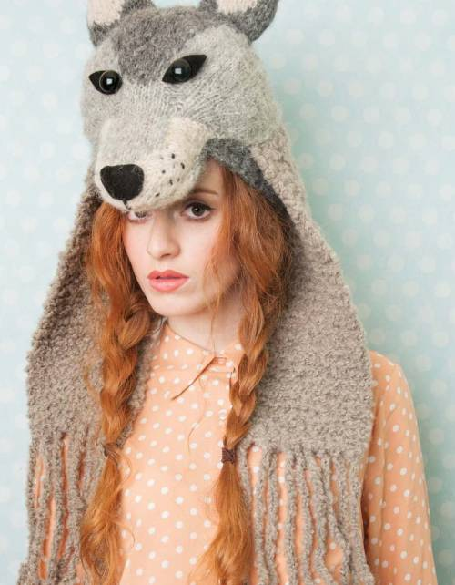 Faux Taxidermy Knits - Wolf Headdress beauty image