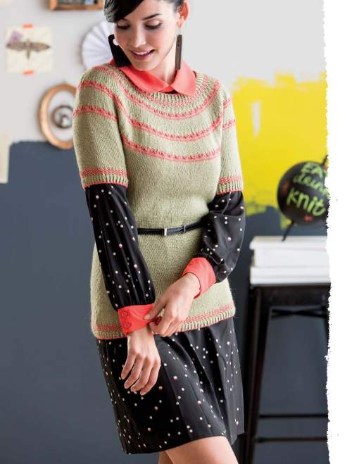 The Art of Slip-Stitch Knitting - Koketka Sweater beauty image