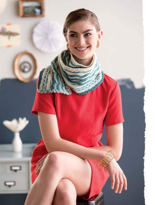 The Art of Slip-Stitch Knitting - Volna Scarf beauty image