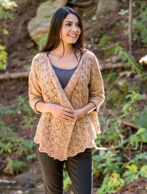 New Lace Knitting - Bright Moment Cardigan interior beauty image