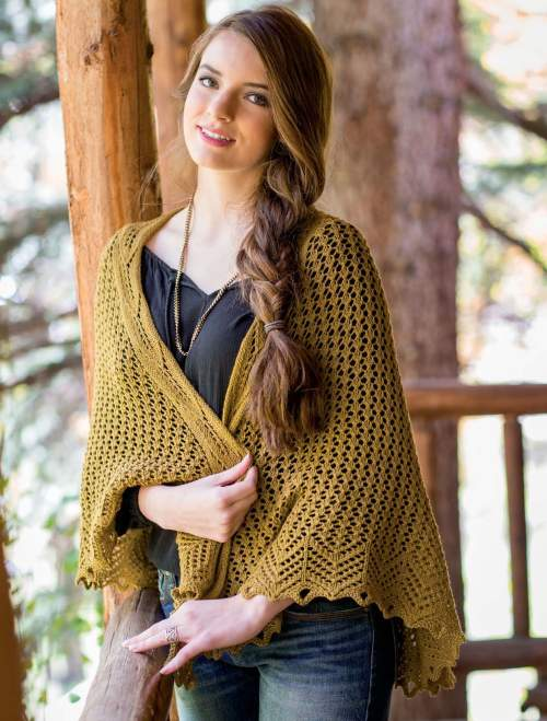 New Lace Knitting - Oak Flat Road Shawl interior beauty image