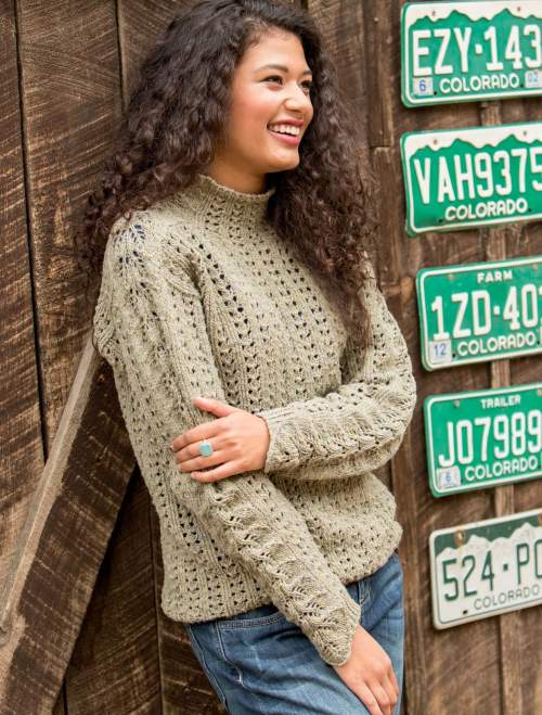 New Lace Knitting - Salt Grass Pull interior beauty image