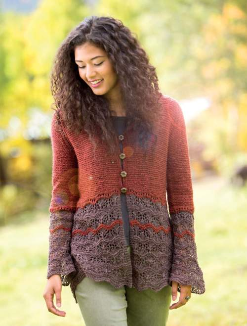 New Lace Knitting - Talus Cardigan interior beauty image