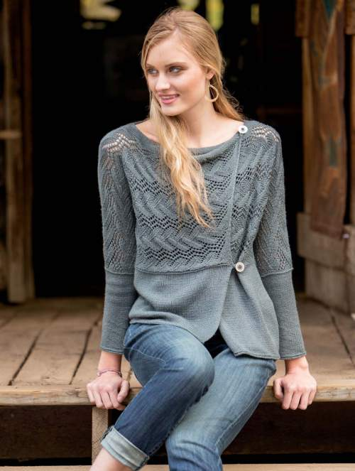 New Lace Knitting - Williwaw Cardigan interior beauty image